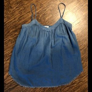 AG JEANS CHAMBRAY CAMISOLE TANK